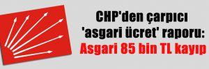 CHP'den çarpıcı 'asgari ücret' raporu: Asgari 85 bin TL kayıp