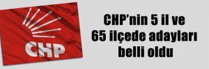 CHP'nin 5 il ve 65 ilçede adayları belli oldu