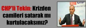 CHP'li Tekin: Krizden camileri satarak mı kurtulacaksınız?