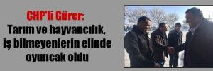 CHP'li Gürer: Tarım ve hayvancılık, iş bilmeyenlerin elinde oyuncak oldu