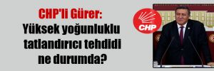 CHP'li Gürer: Yüksek yoğunluklu tatlandırıcı tehdidi ne durumda?