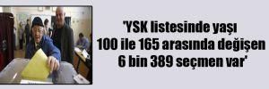 'YSK listesinde yaşı 100 ile 165 arasında değişen 6 bin 389 seçmen var'