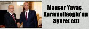 Mansur Yavaş, Karamollaoğlu'nu ziyaret etti