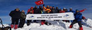 9.Geleneksel Hacılar Erciyes kış tırmanışı tamamlandı