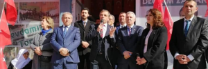 CHP Tomarza adayı Osman Koç'un seçim ofisi açıldı