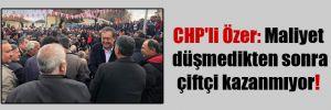 CHP'li Özer: Maliyet düşmedikten sonra çiftçi kazanmıyor!