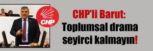 CHP'li Barut: Toplumsal drama seyirci kalmayın!