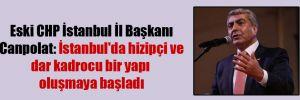 Eski CHP İstanbul İl Başkanı Canpolat: İstanbul'da hizipçi ve dar kadrocu bir yapı oluşmaya başladı