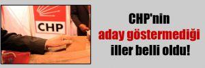 CHP'nin aday göstermediği iller belli oldu!