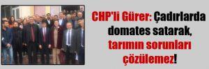 CHP'li Gürer: Çadırlarda domates satarak, tarımın sorunları çözülemez!