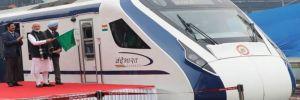 Hindistan'ın ilk hızlı treni ilk yolculuğunda bozuldu