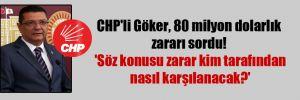CHP'li Göker, 80 milyon dolarlık zararı sordu! 'Söz konusu zarar kim tarafından nasıl karşılanacak?'