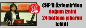 CHP'li Özdemir'den doğum iznini 24 haftaya çıkaran teklif!