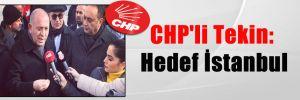 CHP'li Tekin: Hedef İstanbul