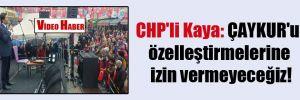 CHP'li Kaya: ÇAYKUR'u özelleştirmelerine izin vermeyeceğiz!