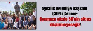 Ayvalık Belediye Başkanı CHP'li Gençer: Oyumuzu yüzde 50'nin altına düşürmeyeceğiz!