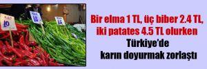 Bir elma 1 TL, üç biber 2.4 TL, iki patates 4.5 TL olurken Türkiye'de karın doyurmak zorlaştı