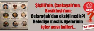 Şişlili'nin, Çankayalı'nın, Beşiktaşlı'nın; Cefarağalı'dan eksiği nedir?! Belediye meclis üyelerinin içler acısı halleri…