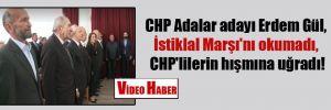 CHP Adalar adayı Erdem Gül, İstiklal Marşı'nı okumadı, CHP'lilerin hışmına uğradı!
