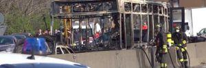Servis sürücüsü okul otobüsünü kaçırdı ve yaktı! İçinde 51 çocuk vardı