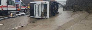 Şırnak'ta askerleri taşıyan midibüs devrildi: 1 şehit, 20 yaralı