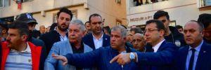 Ekrem İmamoğlu, Kağıthane'de bina çöken bölgede incelemelerde bulundu