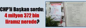 CHP'li Başkan sordu: 4 milyon 372 bin liramız nerede?