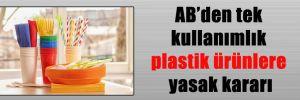AB'den tek kullanımlık plastik ürünlere yasak kararı