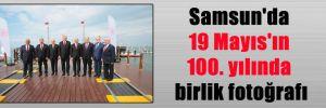 Samsun'da 19 Mayıs'ın 100. yılında birlik fotoğrafı