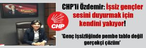 CHP'li Özdemir: İşsiz gençler sesini duyurmak için kendini yakıyor! 'Genç işsizliğinde pembe tablo değil gerçekçi çözüm'