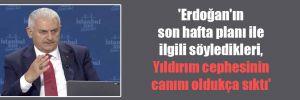 'Erdoğan'ın son hafta planı ile ilgili söyledikleri, Yıldırım cephesinin canını oldukça sıktı'