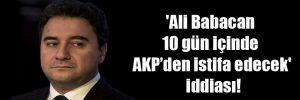 'Ali Babacan 10 gün içinde AKP'den istifa edecek' iddiası!