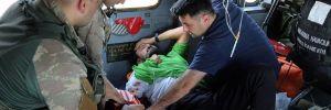 Ayı saldırısına uğrayan yaralı dağcı helikopterle kurtarıldı