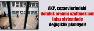 AKP, cezaevlerindeki doluluk oranını azaltmak için infaz sisteminde değişiklik planlıyor!