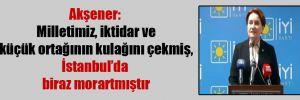 Akşener: Milletimiz, iktidar ve küçük ortağının kulağını çekmiş, İstanbul'da biraz morartmıştır