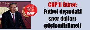CHP'li Gürer: Futbol dışındaki spor dalları güçlendirilmeli
