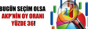 Bugün seçim olsa AKP'nin oy oranı yüzde 36!