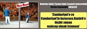 Bodrum Antik Tiyatro'daki Livaneli konserinde Ekrem İmamoğlu sürprizi!