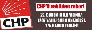CHP'li vekilden rekor! 27. dönemin ilk yılında 1287 yazılı soru önergesi, 175 kanun teklifi