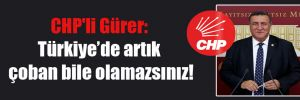 CHP'li Gürer: Türkiye'de artık çoban bile olamazsınız!