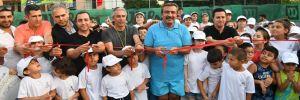 Başkan Soner Çetin tenis kurslarının açılışını yaptı!