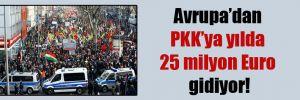 Avrupa'dan PKK'ya yılda 25 milyon Euro gidiyor!
