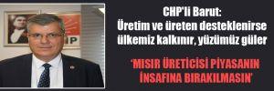CHP'li Barut: Üretim ve üreten desteklenirse ülkemiz kalkınır, yüzümüz güler