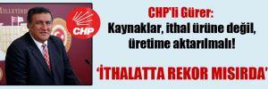 CHP'li Gürer: Kaynaklar, ithal ürüne değil, üretime aktarılmalı!