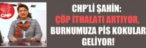 CHP'li Şahin: Çöp ithalatı artıyor, burnumuza pis kokular geliyor!
