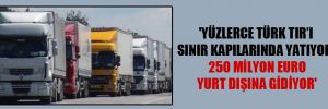 'Yüzlerce Türk TIR'ı sınır kapılarında yatıyor, 250 milyon Euro yurt dışına gidiyor'