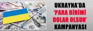 UKRAYNA'DA 'PARA BİRİMİ DOLAR OLSUN' KAMPANYASI