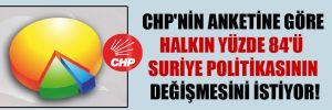 CHP'nin anketine göre halkın yüzde 84'ü Suriye politikasının değişmesini istiyor!