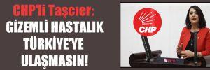 CHP'li Taşcıer: Gizemli hastalık Türkiye'ye ulaşmasın!