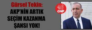 Gürsel Tekin: AKP'nin artık seçim kazanma şansı yok!
